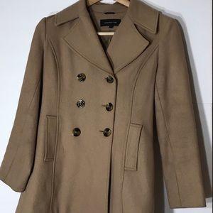 Jones NY size 6 camel pea coat wool